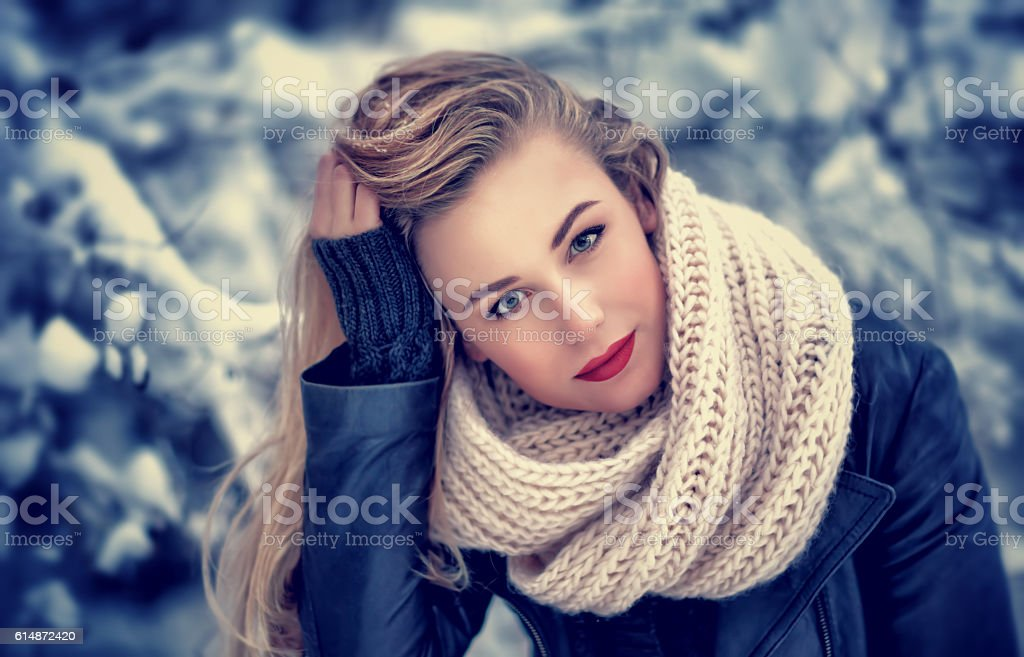 Gorgeous woman portrait stock photo