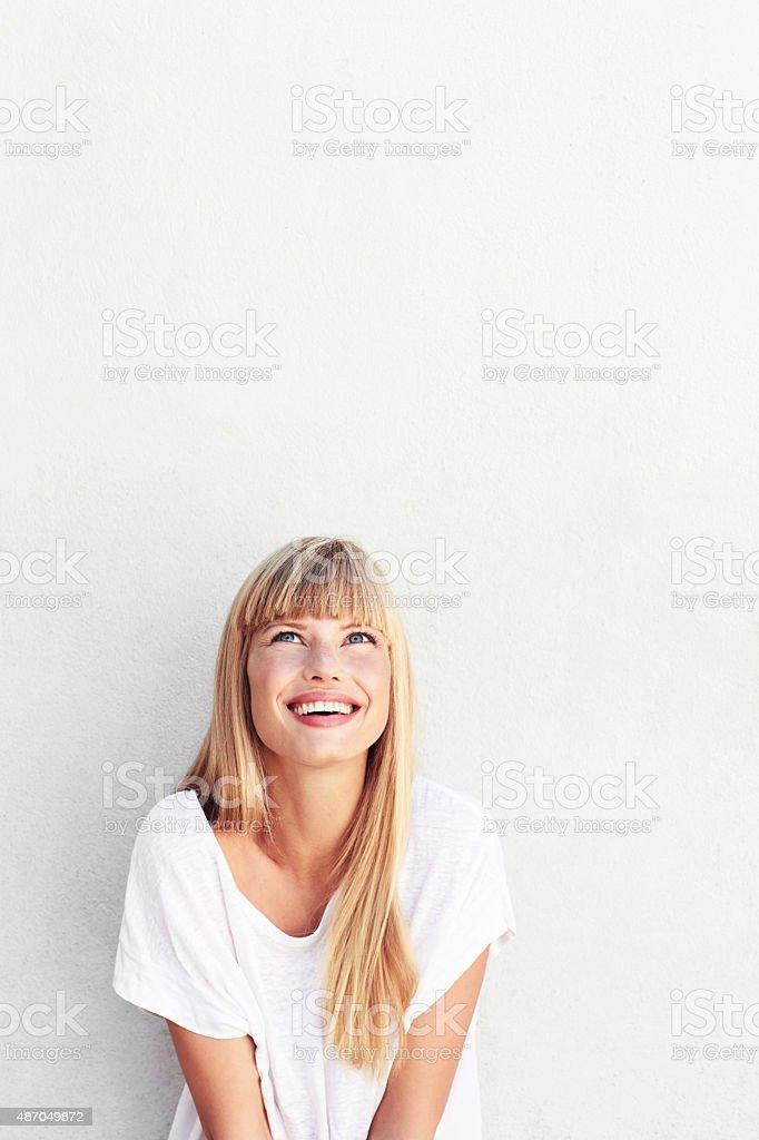 Gorgeous woman smiling stock photo
