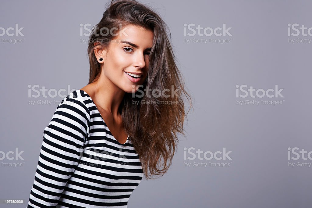 Gorgeous woman with beautiful hair stock photo