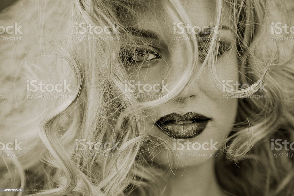 Gorgeous young blond woman stock photo