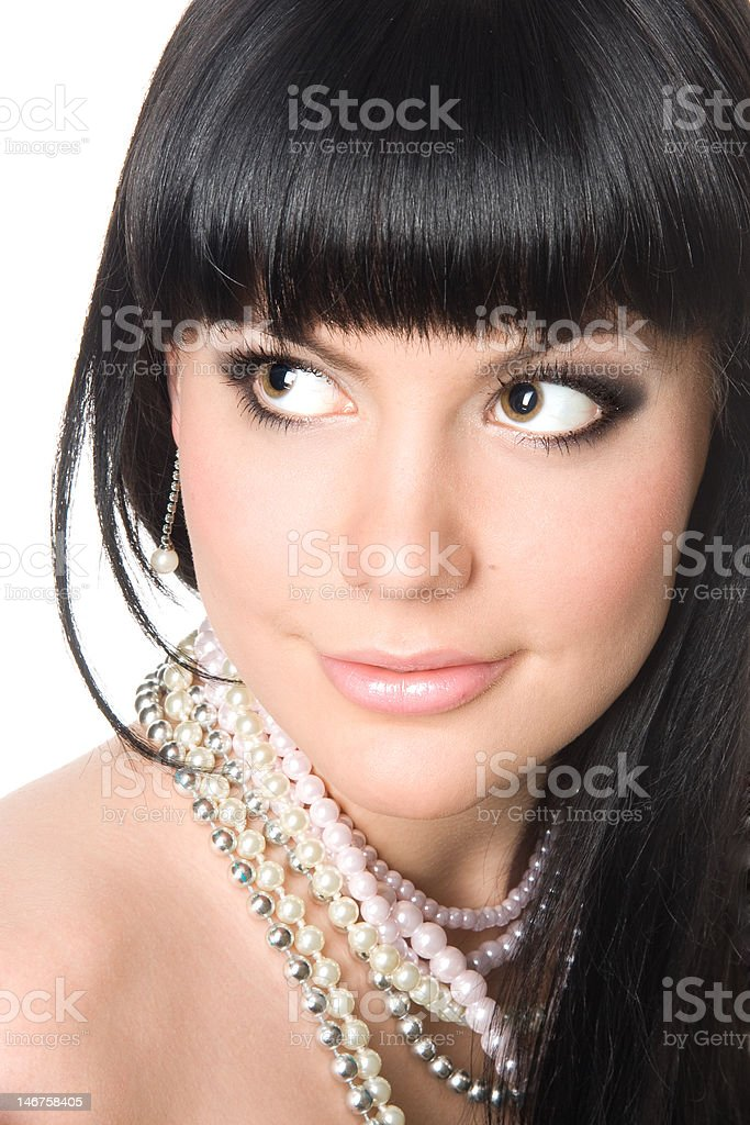 Gorgeous young brunette royalty-free stock photo