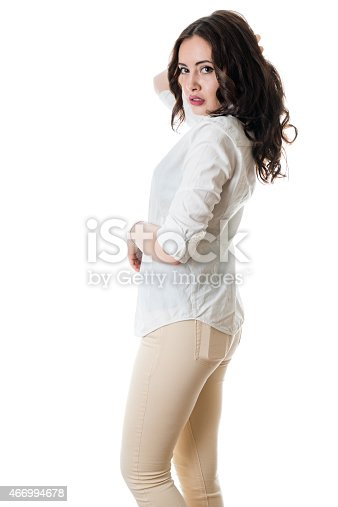 istock Gorgeous young brunette 466994678