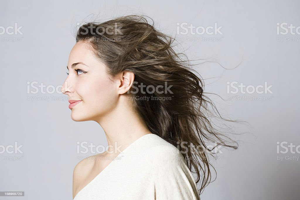 Gorgeous young brunette woman. stock photo