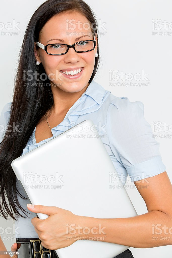 Gorgeous young female smiling confidently royalty-free stock photo