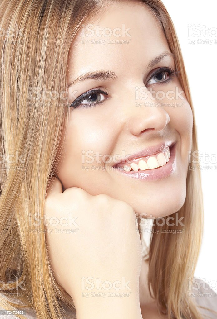 Gorgeous young female smiling royalty-free stock photo