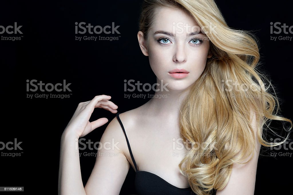 Gorgeous young model, youth and skin care concept. stock photo