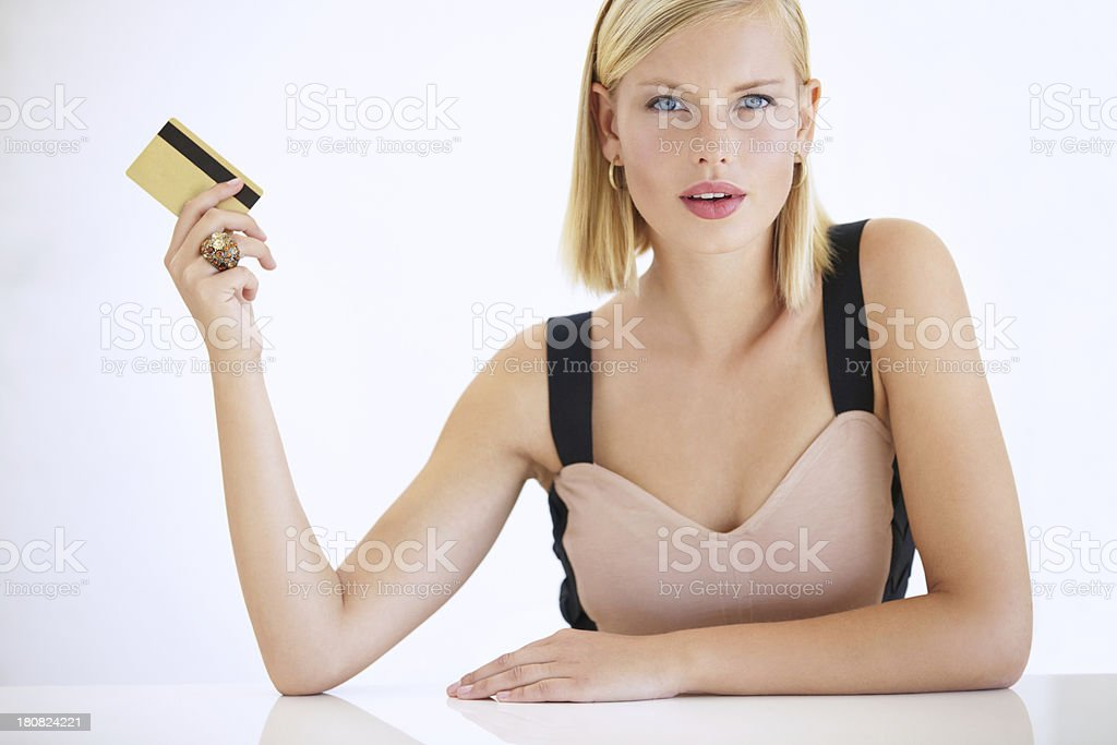 She's a big spender stock photo