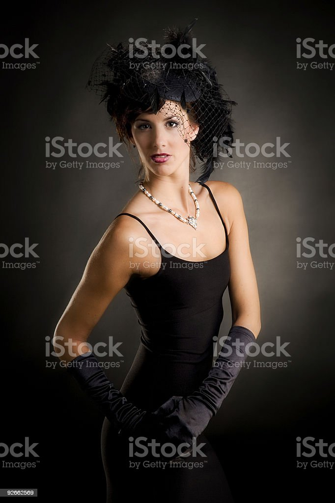Gorgeous young woman with handmade necklace royalty-free stock photo