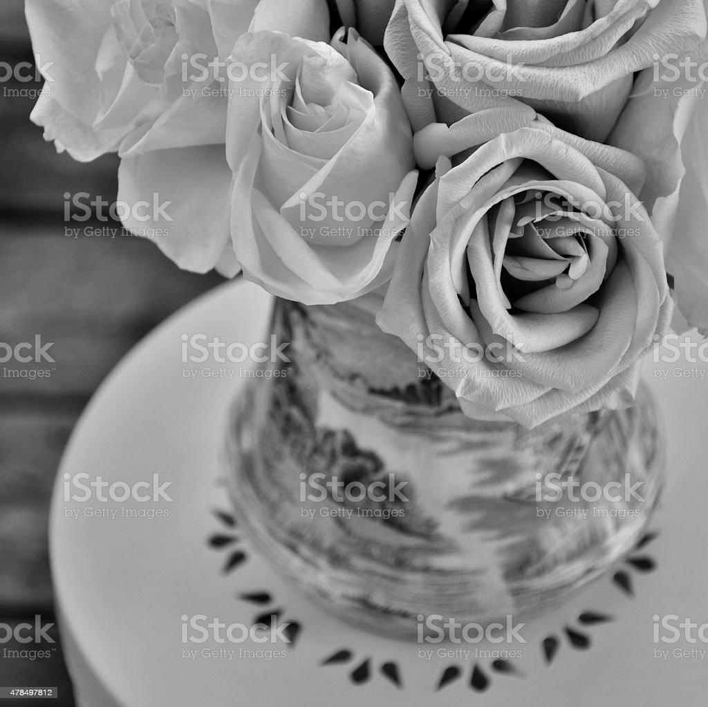 Gorgeously Rosy - Black And White Image stock photo