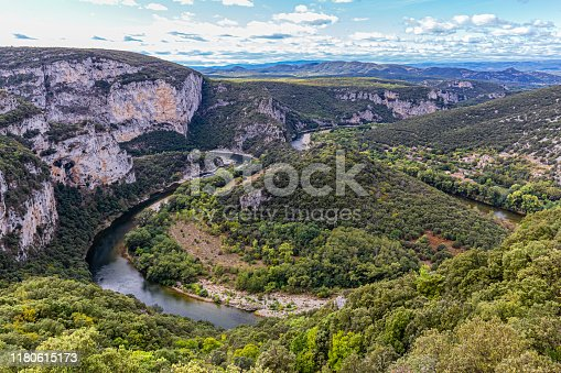The gorges of the Ardèche are a tourist site of the French department of Ardeche and, in their lower course, border of that of Gard. The gorges form a veritable canyon of about thirty kilometers dug in the limestone plateau between Vallon-Pont-d'Arc and Saint-Martin-d'Ardèche