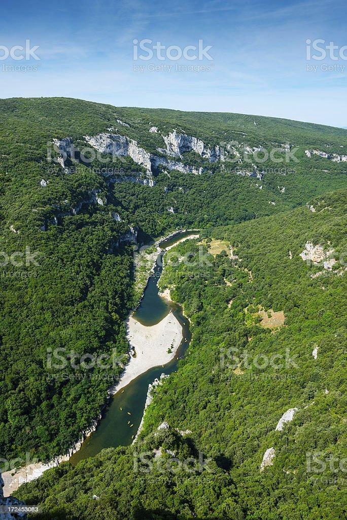 Gorges de l'Ardeche royalty-free stock photo