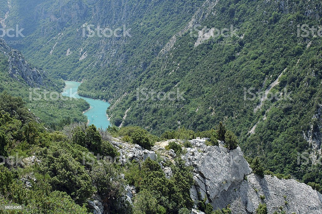 Gorges du Verdon (France), famous canyon, summer landscape royalty-free stock photo