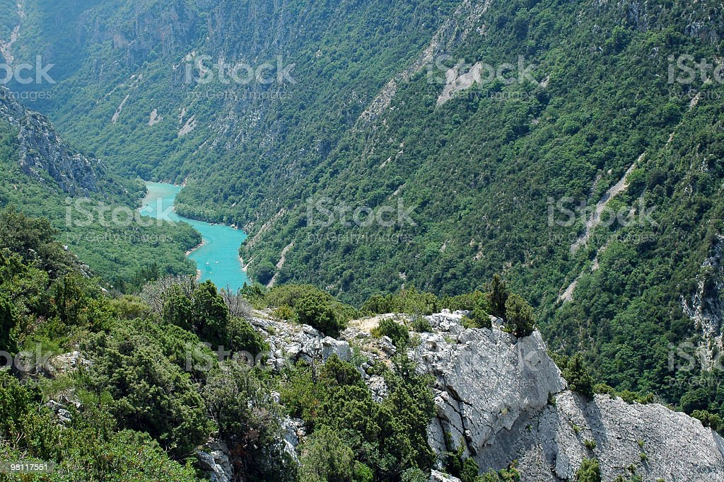 Gorges du Verdon (France), famous canyon, summer landscape royalty-free stock photo
