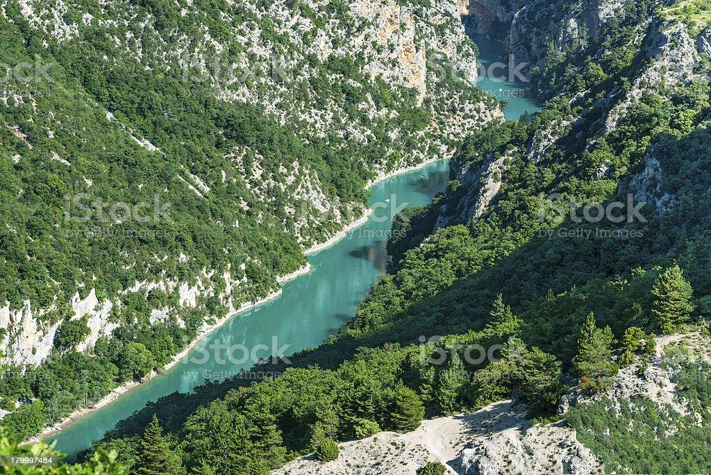 협곡을 du Verdon royalty-free 스톡 사진