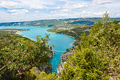 Gorges du Verdon,Provence in France, Europe. Beautiful view on lac de sainte-croix on summer day.