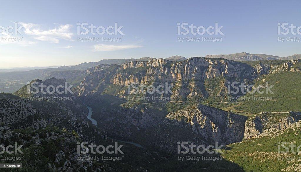 Gorges du Verdon (France), summer landscape royalty-free stock photo