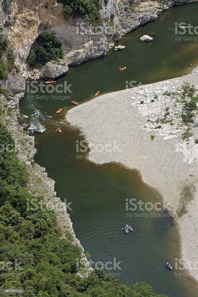 Gorges of Ardeche royalty-free stock photo