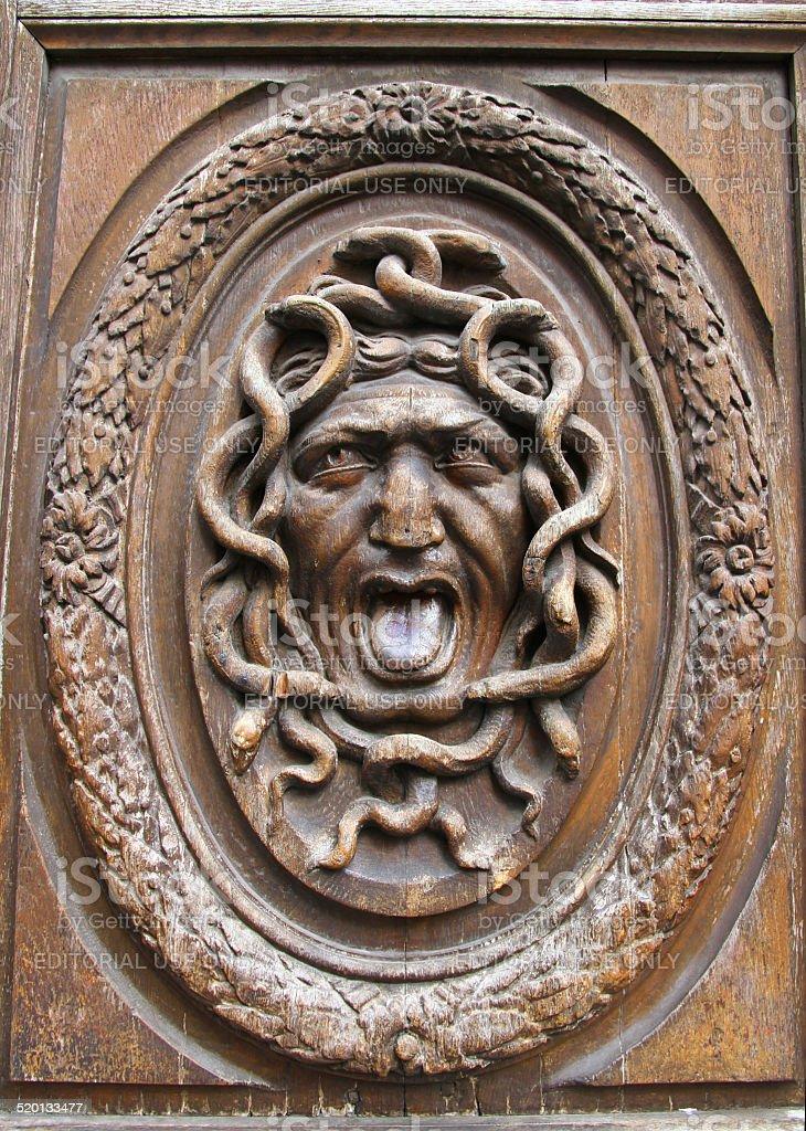Gorgon Door stock photo
