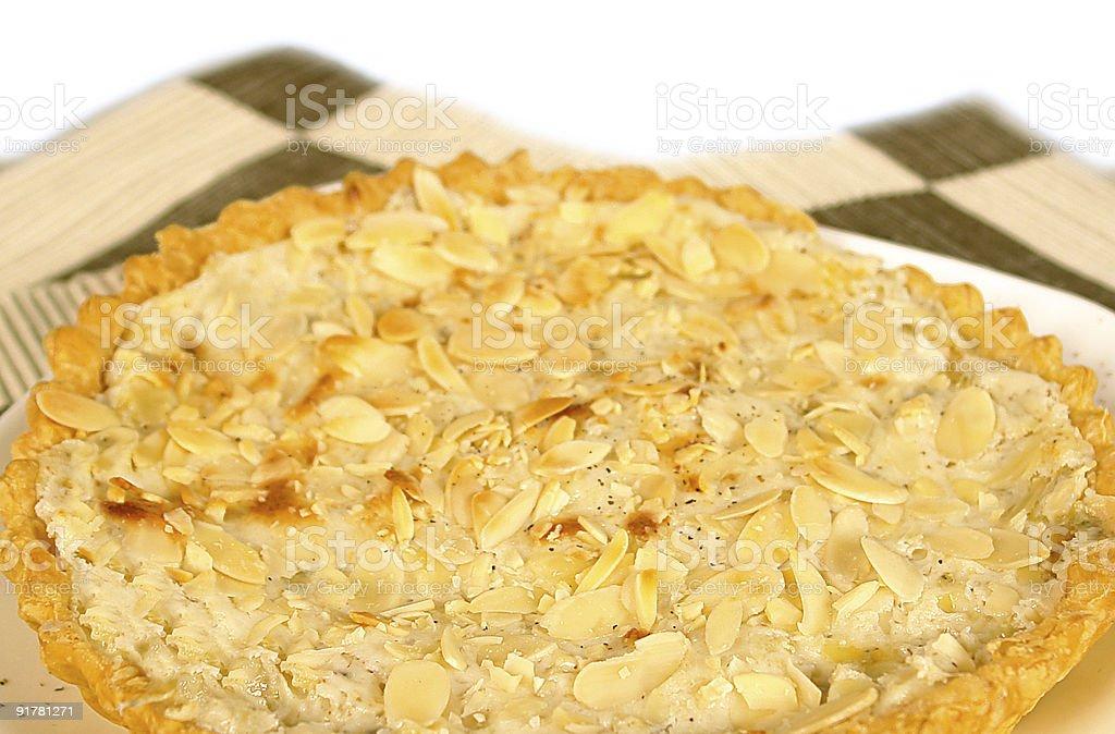 Gorgonzola and nuts pie stock photo