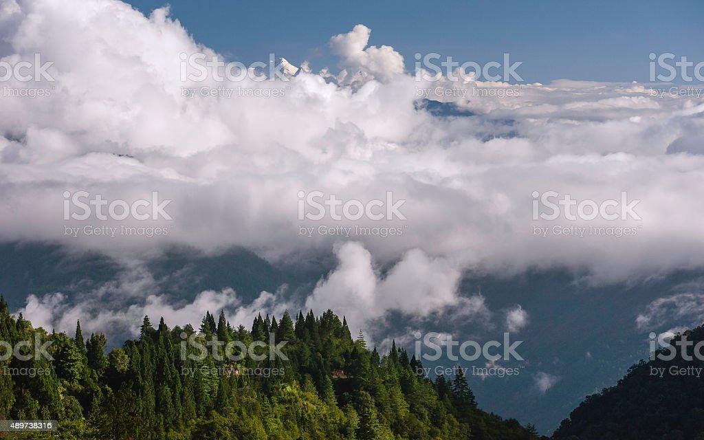 Gori Chen, Himalayan mountain, Bomdila, Arunachal Pradesh, India. stock photo