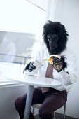 Gorilla Business Man in Office Break Room