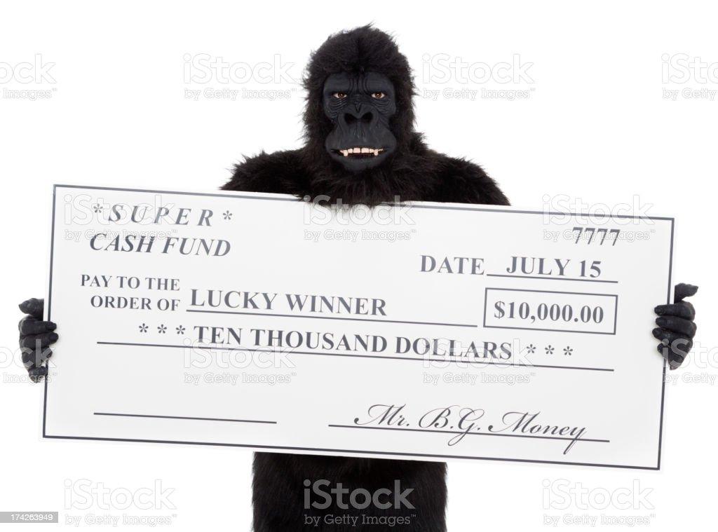 Gorilla Lottery stock photo