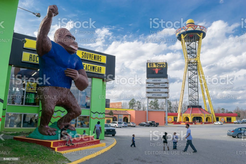 Gorilla Statue at South of the Border Tourist attraction. stock photo