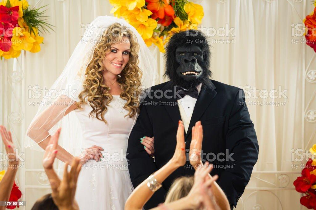 Gorilla Wedding royalty-free stock photo