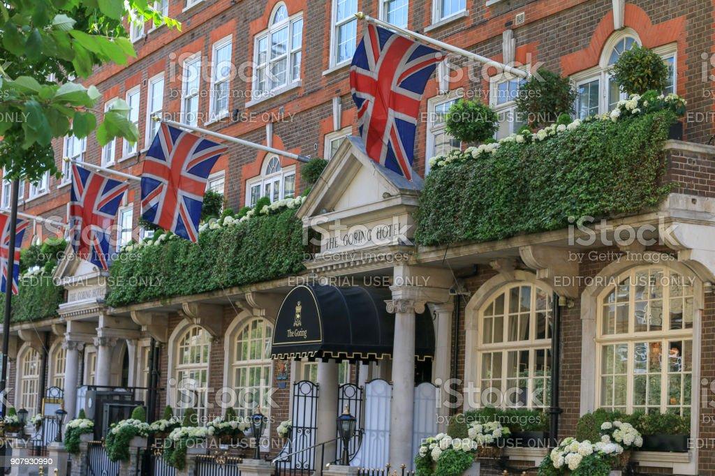 Goring Hotel in Belgravia, London stock photo