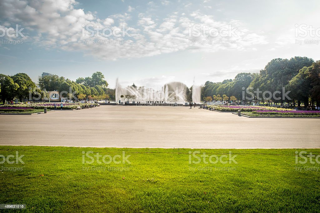 Gorky Park in Moscow stock photo
