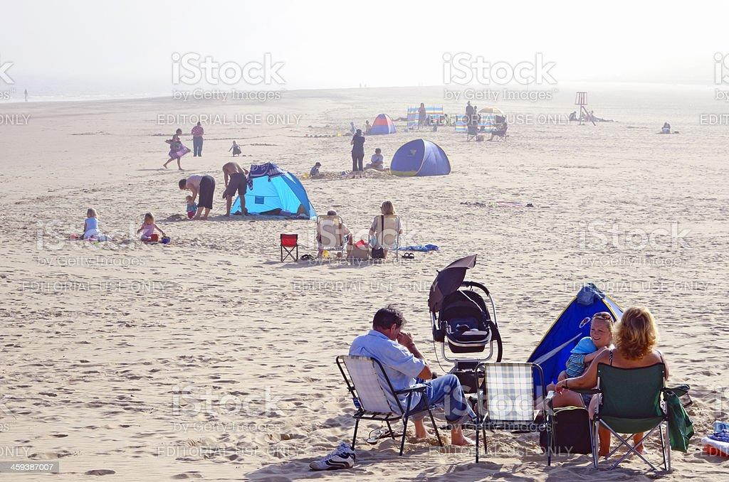 Gorleston beach on a misty day stock photo