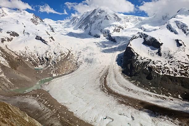 ледник gorner, швейцария - moraine стоковые фото и изображения