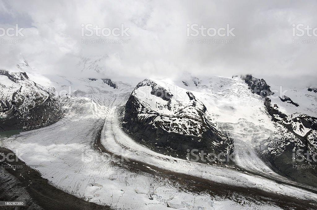 Gorner Glacier, Switzerland stock photo