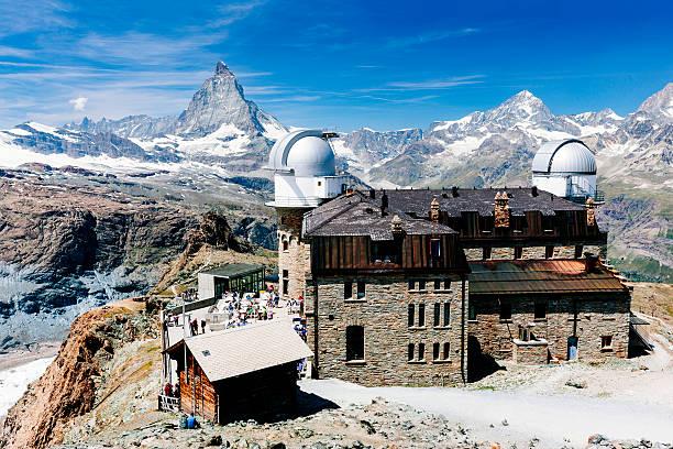 スイスのゴルナーグラート天文台ます。 - 観測所 ストックフォトと画像