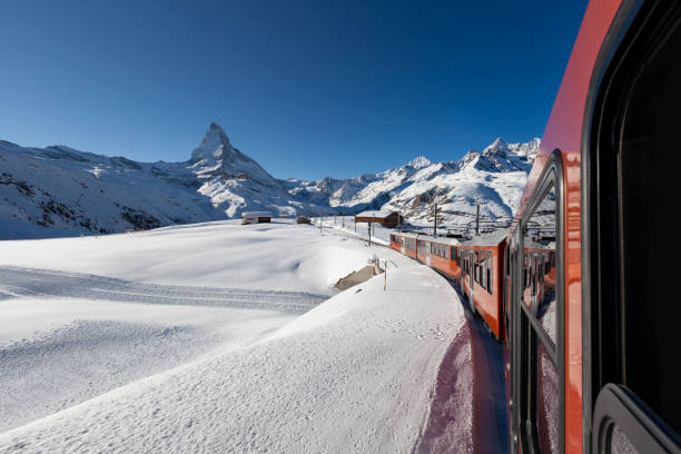 Gornergrat-Bahn in den schweizerischen Alpen, Matterhorn, zermatt Schweiz – Foto