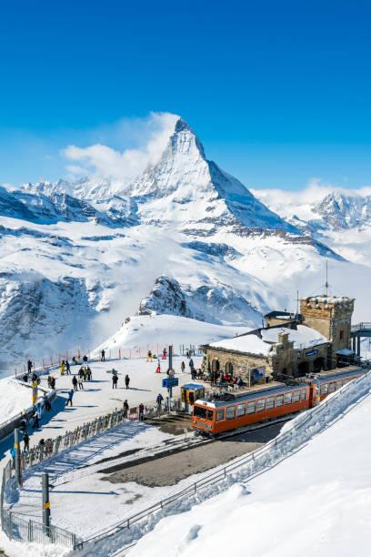 Gornergrat-Bahnhof der Schweiz im winter – Foto