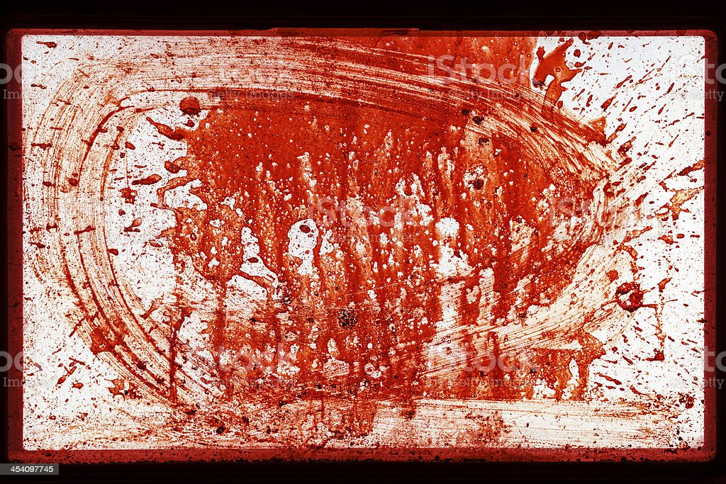 Favorite Gory Splattered Dripping Red Blood Window Horror Abstract  GE24