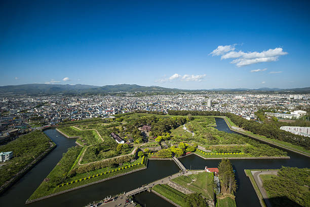 Goryōkaku, Hakodate stock photo