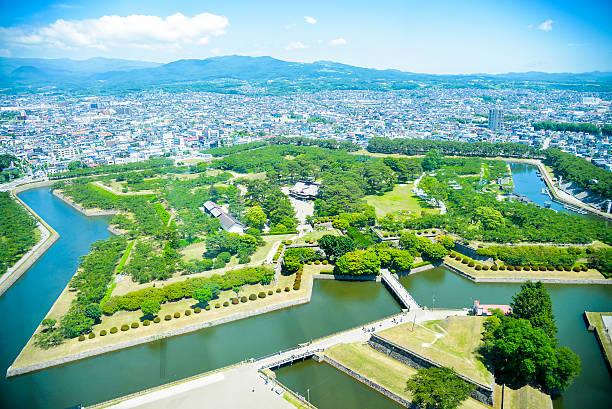 Goryokaku Park in Hakodate Japan1 stock photo