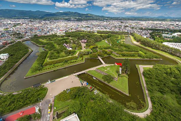 Goryokaku Park Top view stock photo