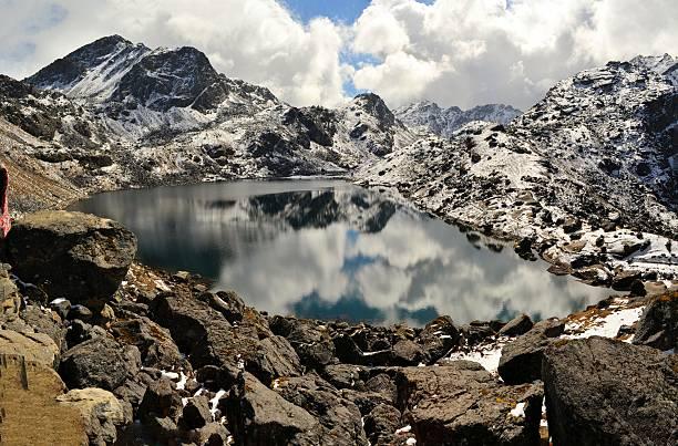 Gosainkunda Mirror Lake, Himalayas, Nepal stock photo