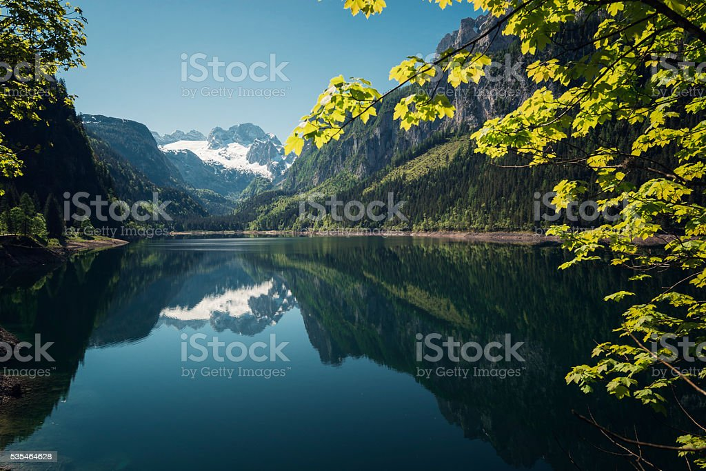 gosausee with dachstein view stock photo