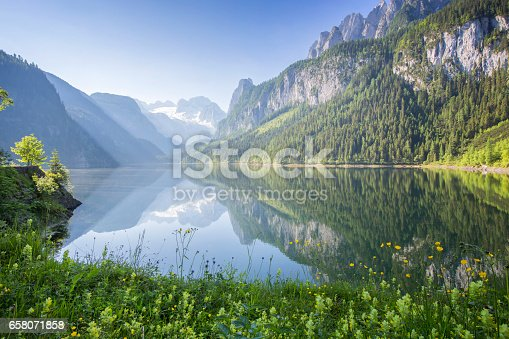 istock Gosausee with dachstein view 658071858
