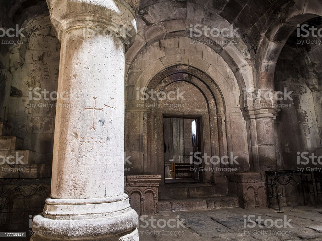 Goshavank Monastery royalty-free stock photo