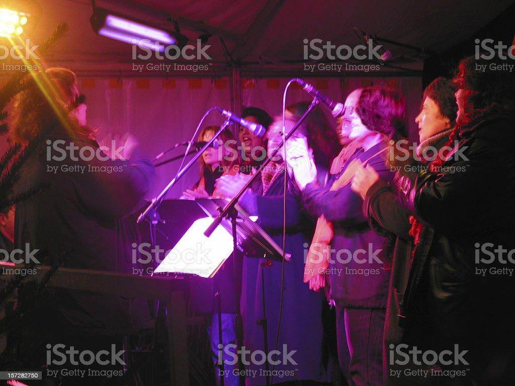 gospel chorus: very blury! royalty-free stock photo