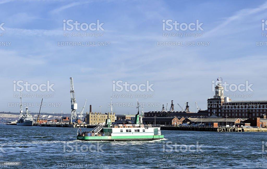 Gosport Ferry and Portsmouth Dockyard royalty-free stock photo