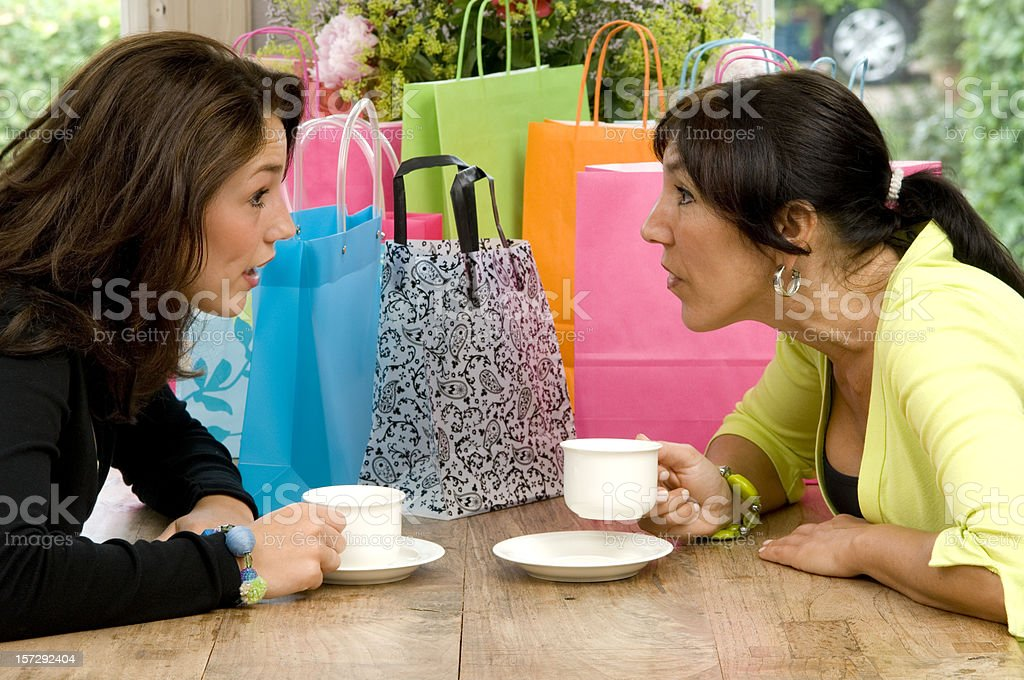 Gossip at the coffee table royalty-free stock photo