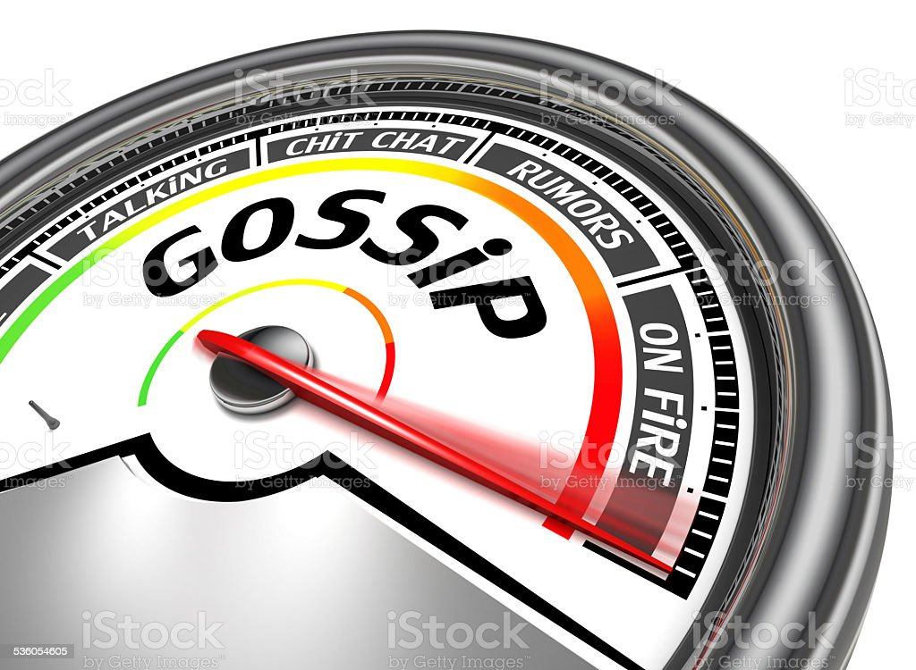 gossip conceptual meter stock photo