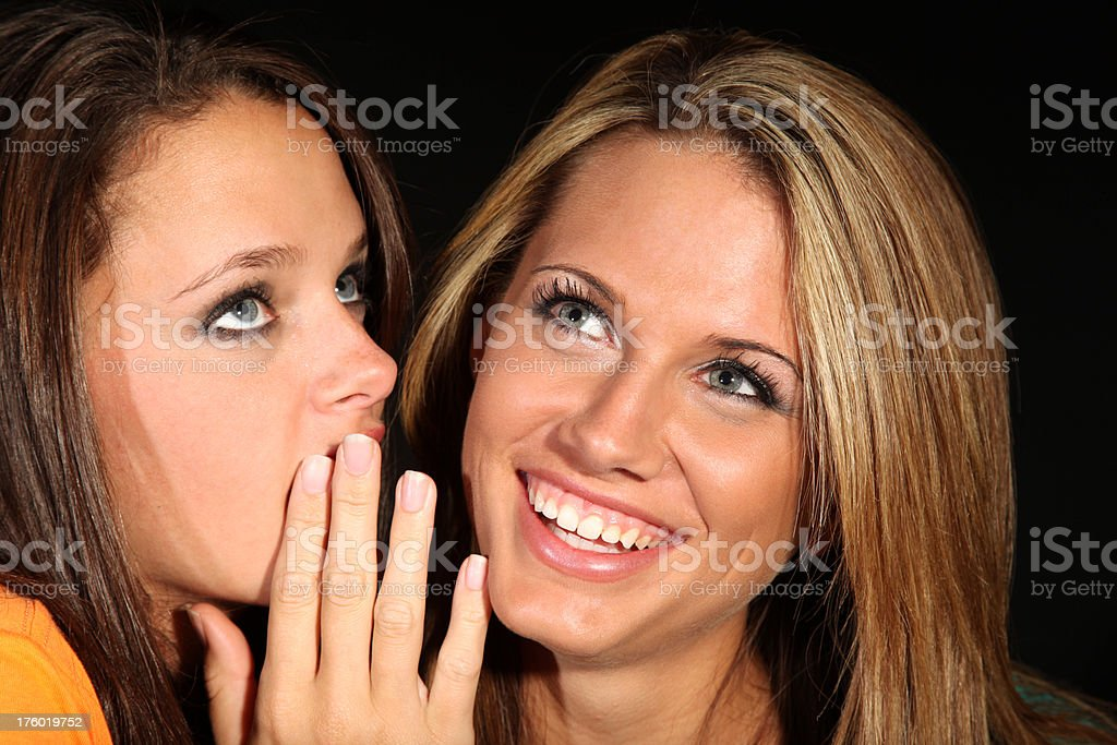 Gossip Girl Talk Sharing Secrets Laughing royalty-free stock photo