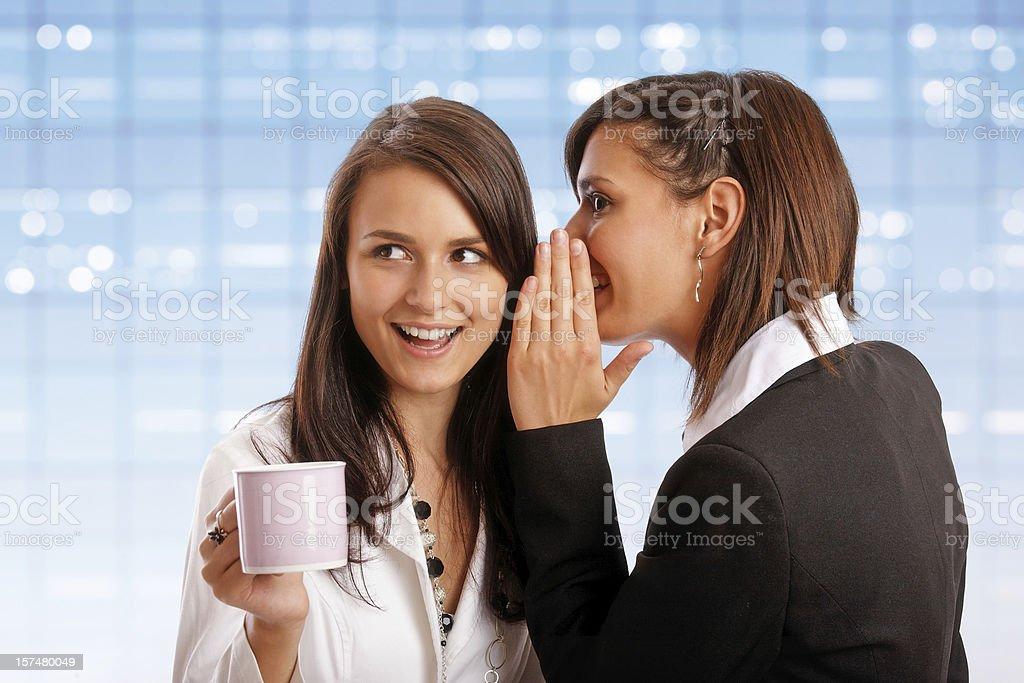 gossip in the cofee break royalty-free stock photo